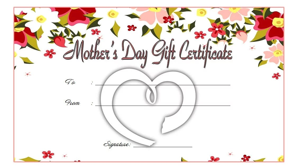 Happy Mother S Day Gift Certificate Template - Gift Ideas