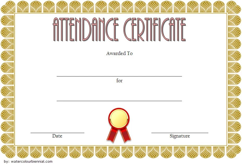 Perfect Attendance Certificate Template 1 Paddle At The Point