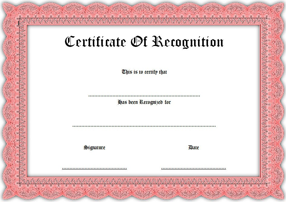 Recognition Certificate Editable - 10+ Best Ideas