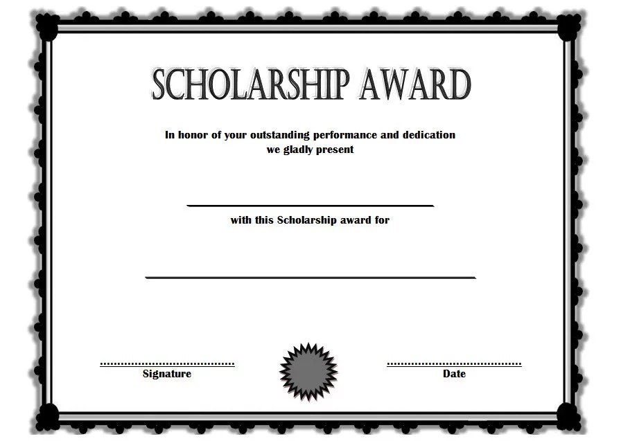 Scholarship Award Certificate Template 6 Paddle At The Point