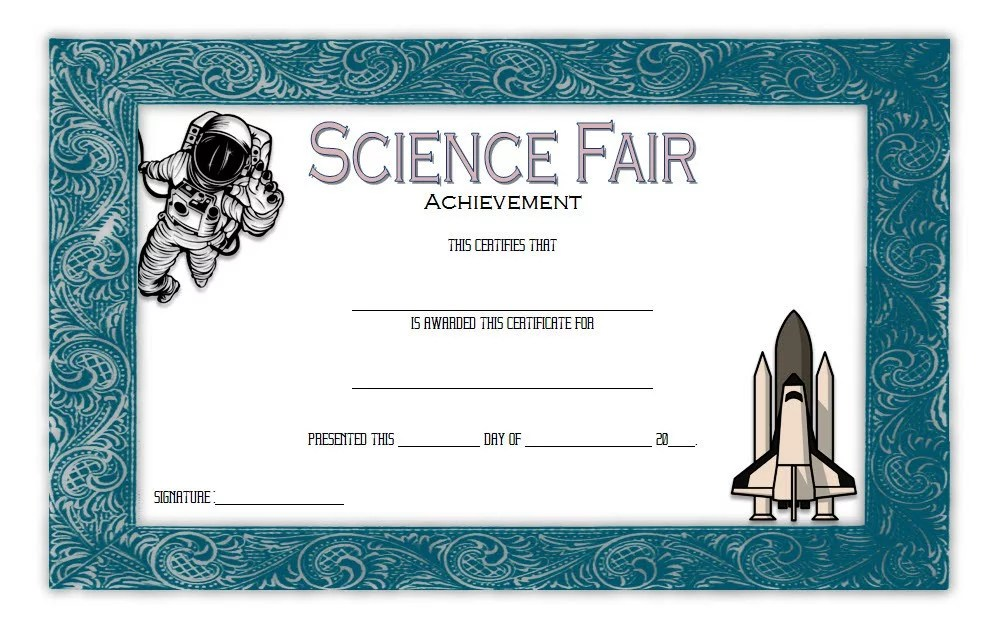 Science Fair Certificate 3 Paddle At The Point