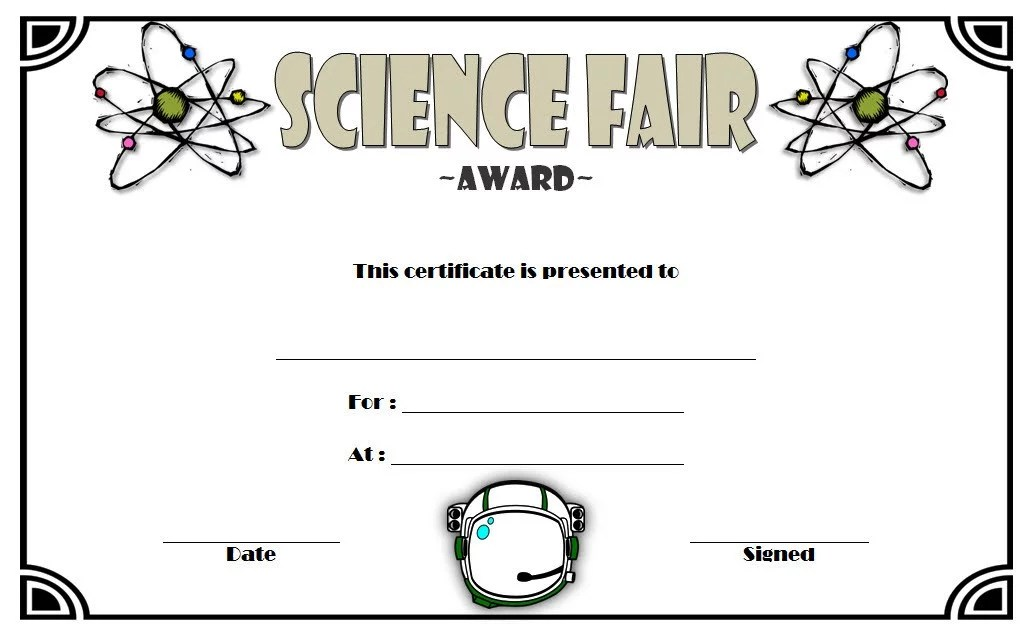 Science Fair Certificate 6 Paddle At The Point