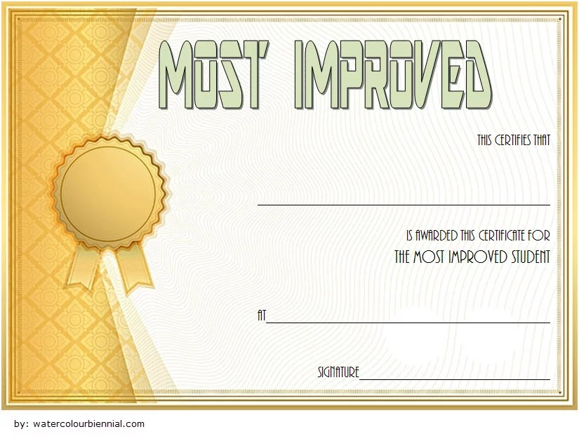 Most Improved Student Certificate Template 10 Paddle At The Point