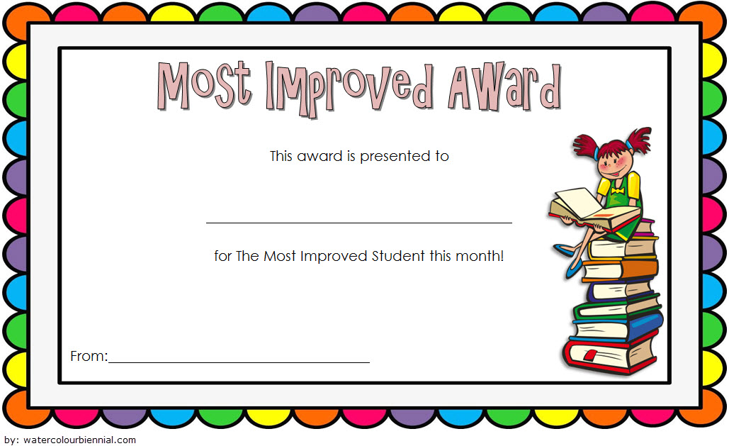 Most Improved Student Certificate Template 2 Paddle At The Point