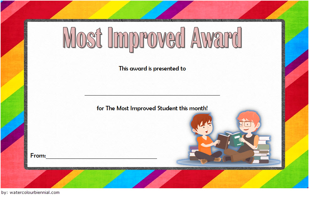 Most Improved Student Certificate Template 3 Paddle At The Point
