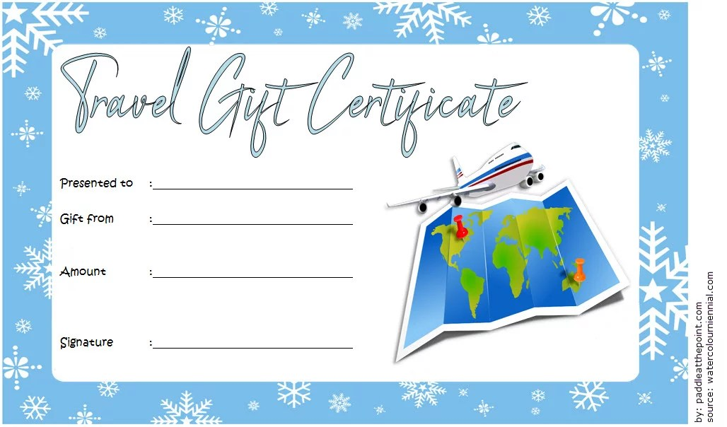 Travel Gift Certificate Template 5 Paddle At The Point