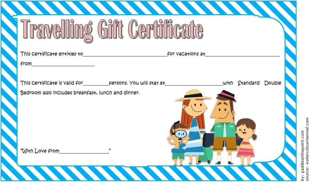 Travel Gift Certificate Template 6 Paddle At The Point