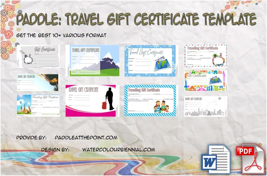 Travel Gift Certificate Templates - 10+ Best Ideas FREE!
