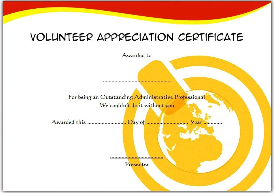 Volunteer Appreciation Certificate Template Paddle At The Point