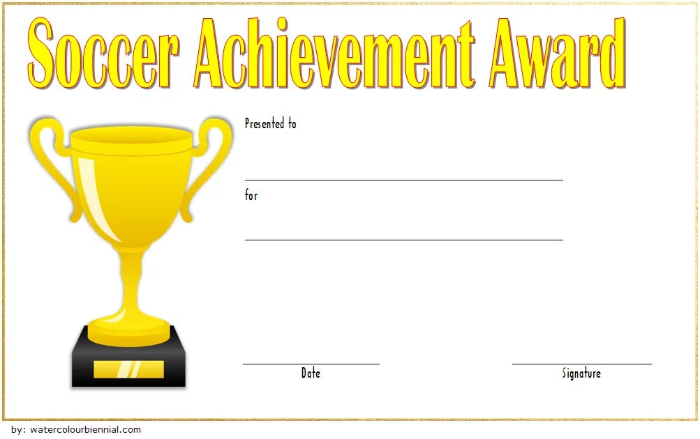 Soccer Achievement Certificate Template 2 Paddle At The Point