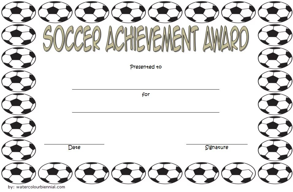Soccer Achievement Certificate Template 3 Paddle At The Point