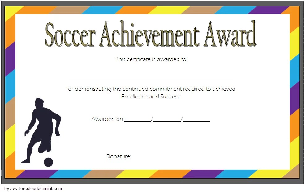 Soccer Achievement Certificate Template 5 Paddle At The Point