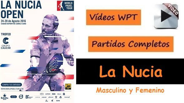 Partidos World Padel Tour La Nucia