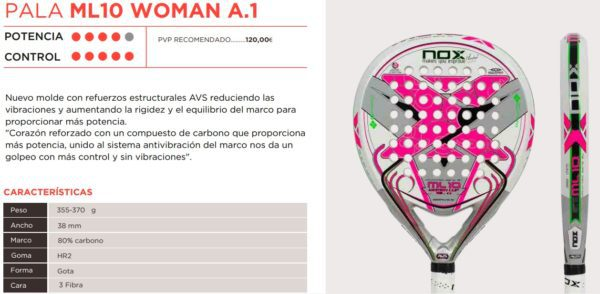 Pala NOX ML10 WOMAN A.1