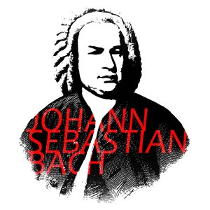 Johann Sebastian Bach Portrait and Typography