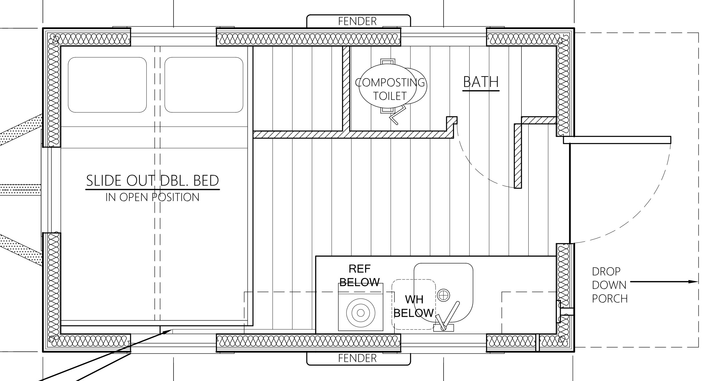 Tiny House With Garage Plans The Salsa Box Tiny House Plans