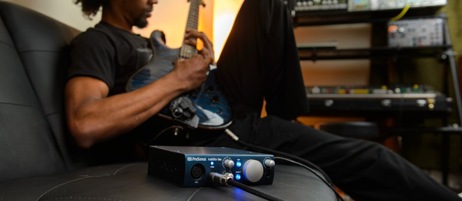 Either way, the AudioBox iOne and its software library provide all the tools needed to record on the road and in the studio.