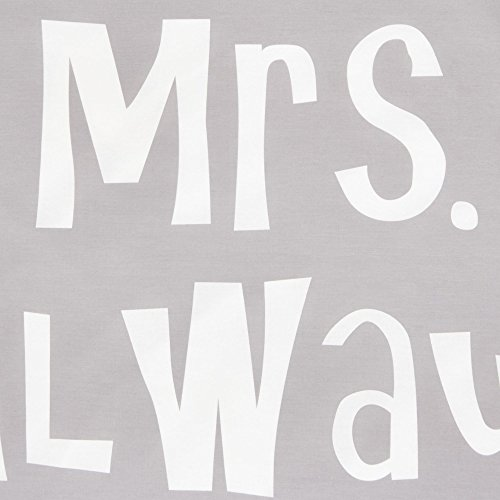 Bettwäsche Set Schriftzug Mr Right Mrs Always Right 100