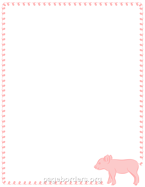 Pink Animal Print Wallpaper Pig Border Clip Art Page Border And Vector Graphics