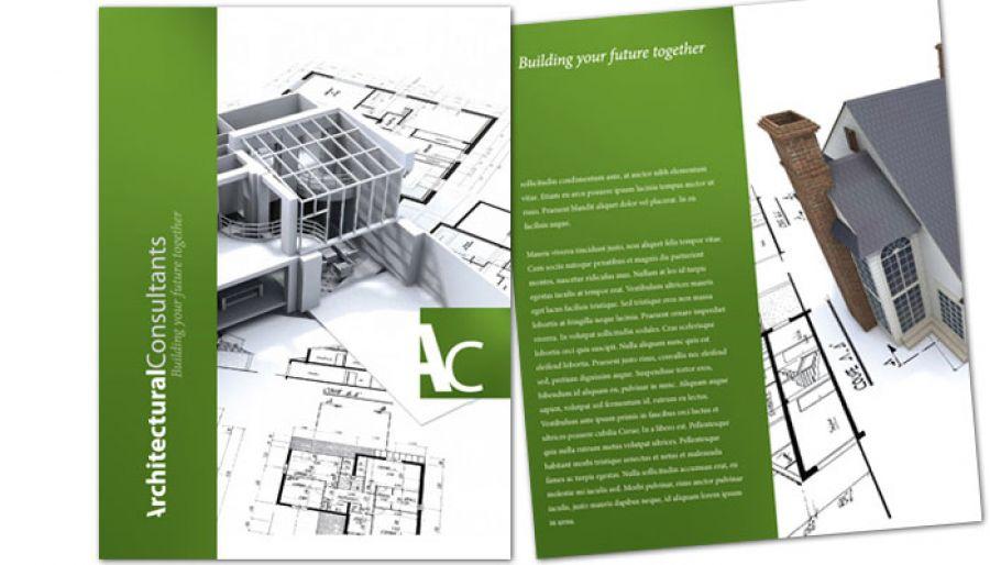 Flyer template for Architect Engineering Firm Order Custom Flyer design