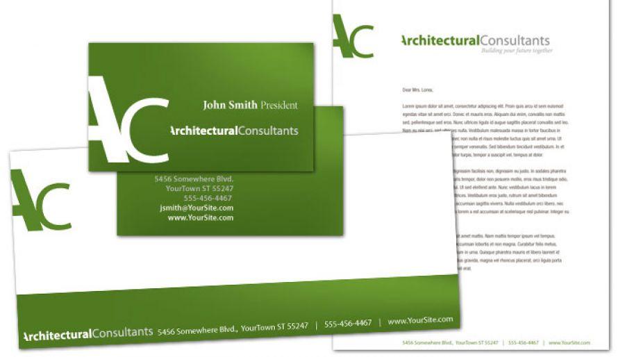 Letterhead template for Architect Engineering Firm Order Custom - letterhead and envelope design