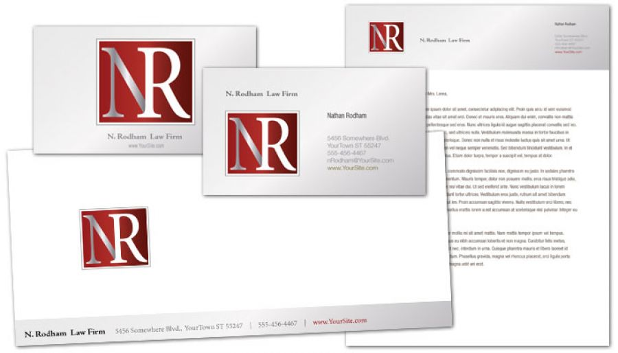 Letterhead template for Attorney Lawyer Law Firm Order Custom
