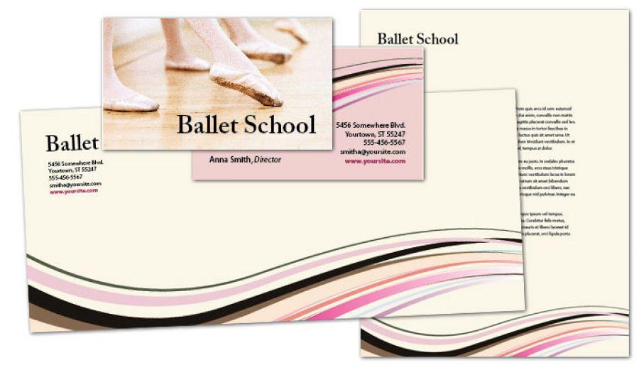 Letterhead template for Ballet Dance School Order Custom Letterhead