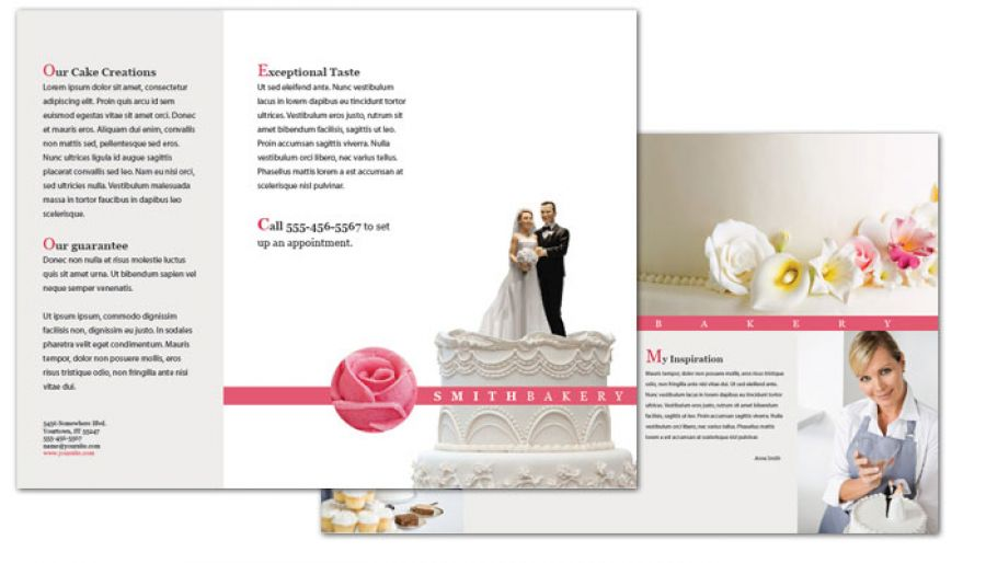 Free Template Flyer Design Bakery Brochure Template Vector RC Flyers - wedding brochure template free