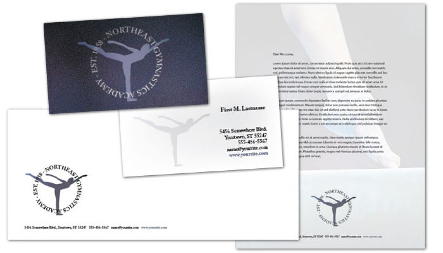 Business Card template for Gym Fitness Personal Trainer Order