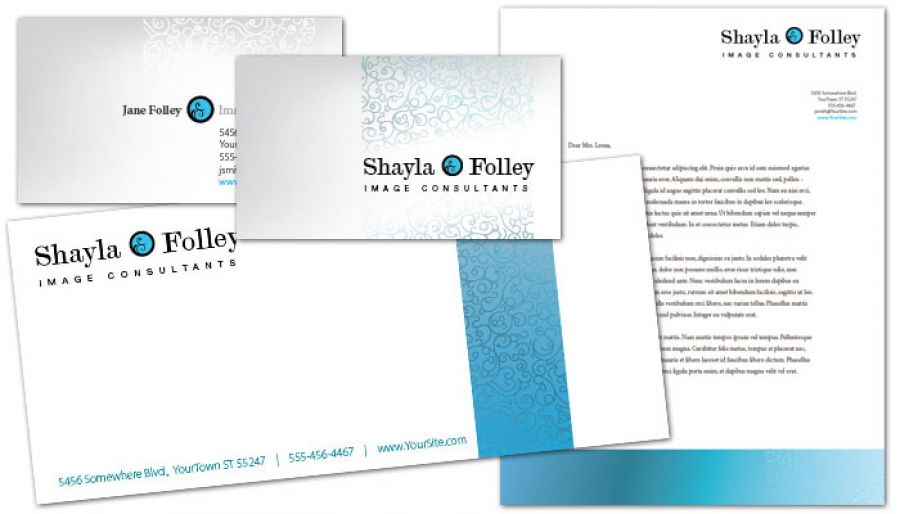 Letterhead template for Image Consultant Order Custom Letterhead design