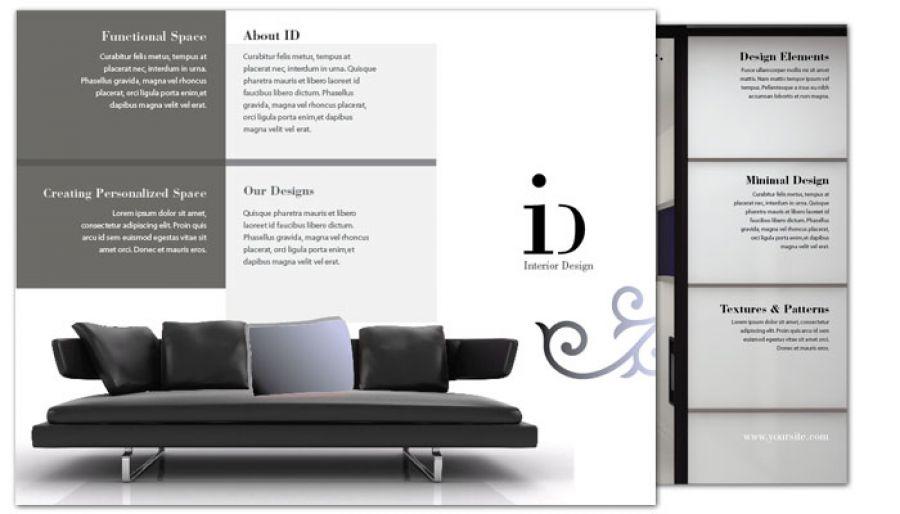 Tri Fold Brochure template for Interior Design Order Custom Tri - interior design brochure template