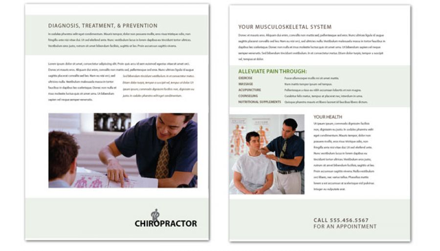 Flyer template for Medical Chiropractic Clinic Order Custom Flyer