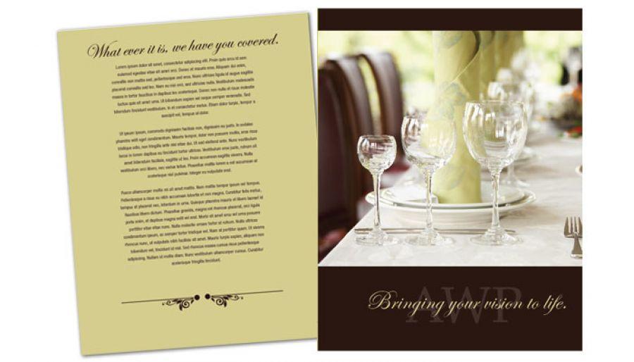 Flyer template for Wedding Planner Order Custom Flyer design