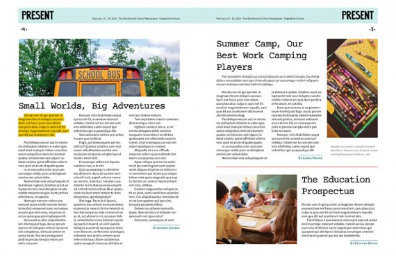 The Blackboard, Free School Newspaper Template for InDesign \u2022 Pagephilia