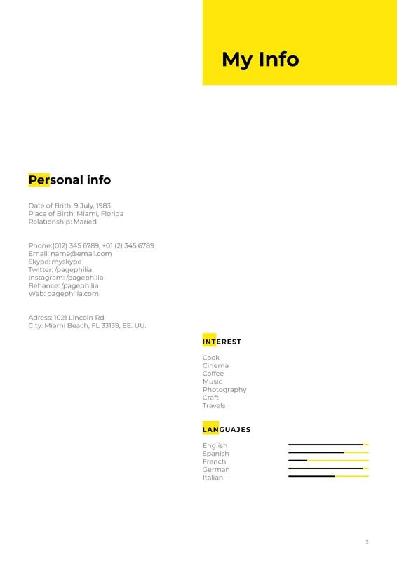 I\u0027m, Free Resume CV Template for InDesign \u2022 Pagephilia - Resume/cv Template