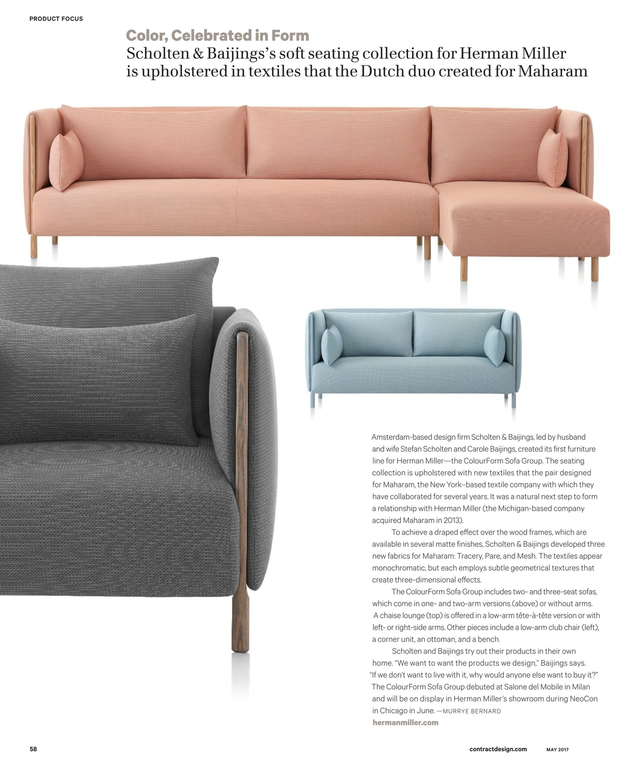 Focus On Furniture Sofa Bed Contract Magazine May 2017