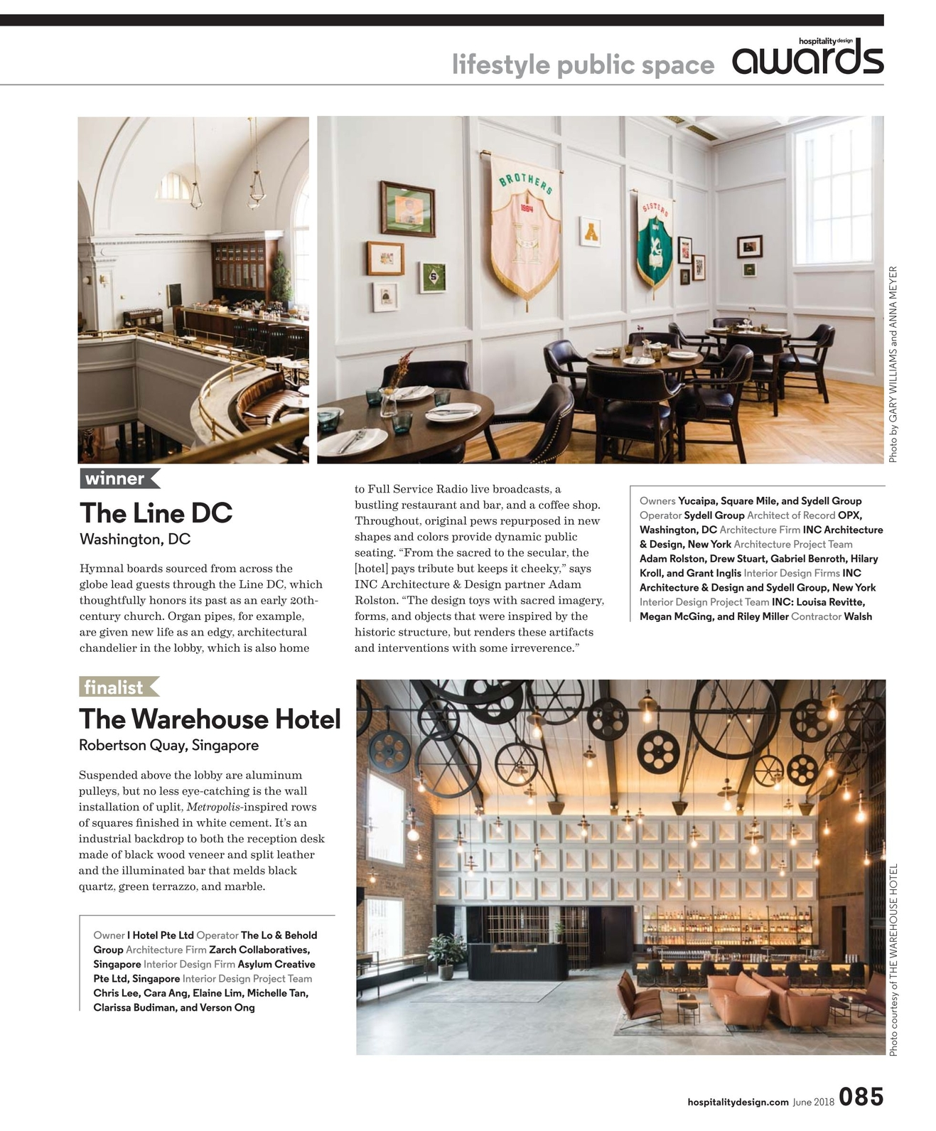 Design Firms In Singapore Hospitality Design June 2018