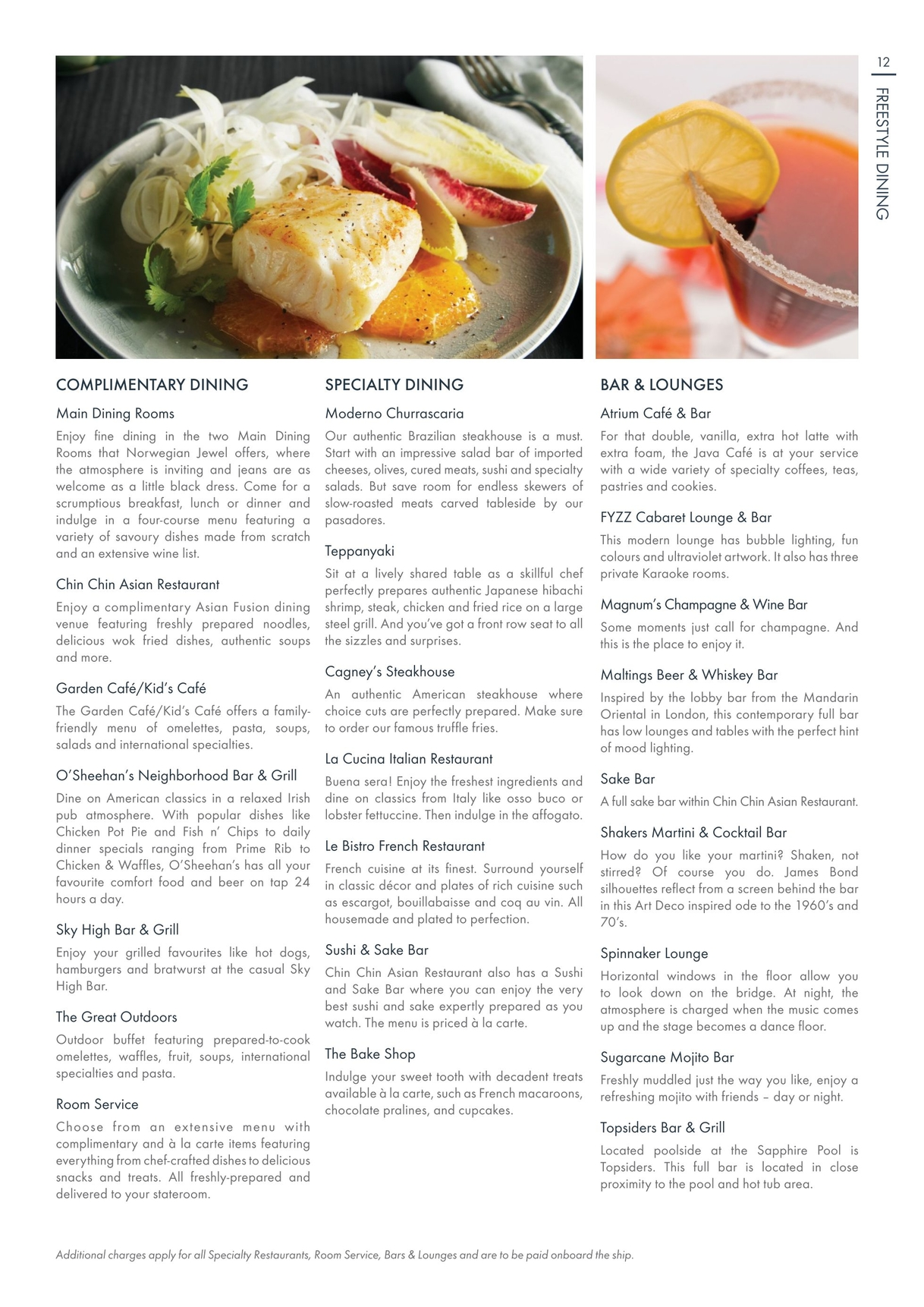 Norwegian Jewel La Cucina Menu Norwegian Jewel 2018 19 Australia New Zealand Asia And South