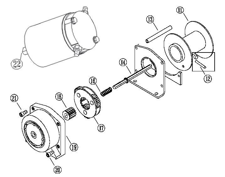 warn winch parts diagram