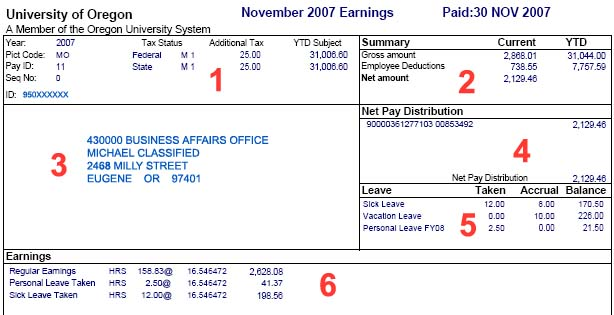 Example Earning Statement Business Affairs - earning statement template