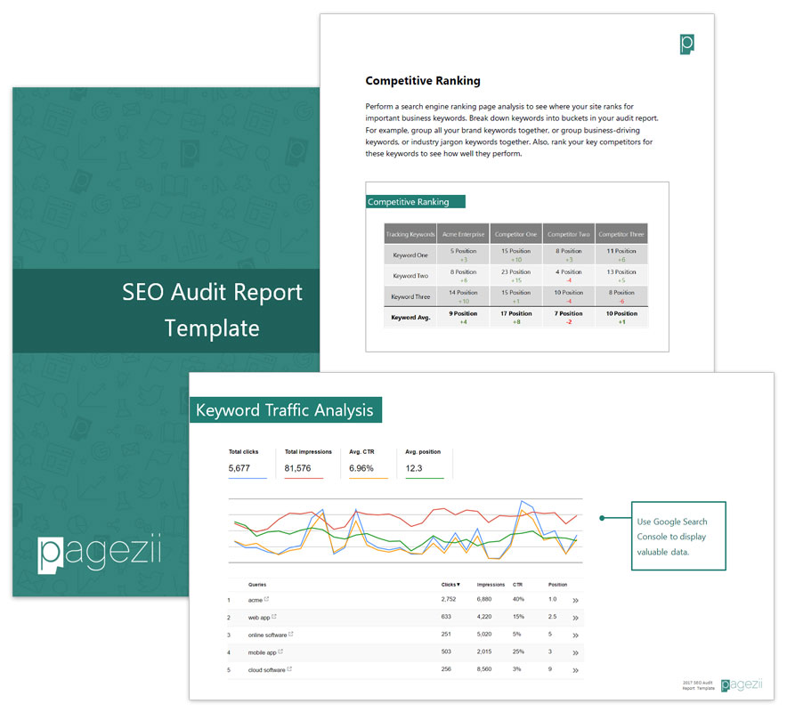 Build your Sample SEO Report template Pagezii - audit template sample