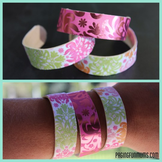 Popsicle Stick Bangles DIY