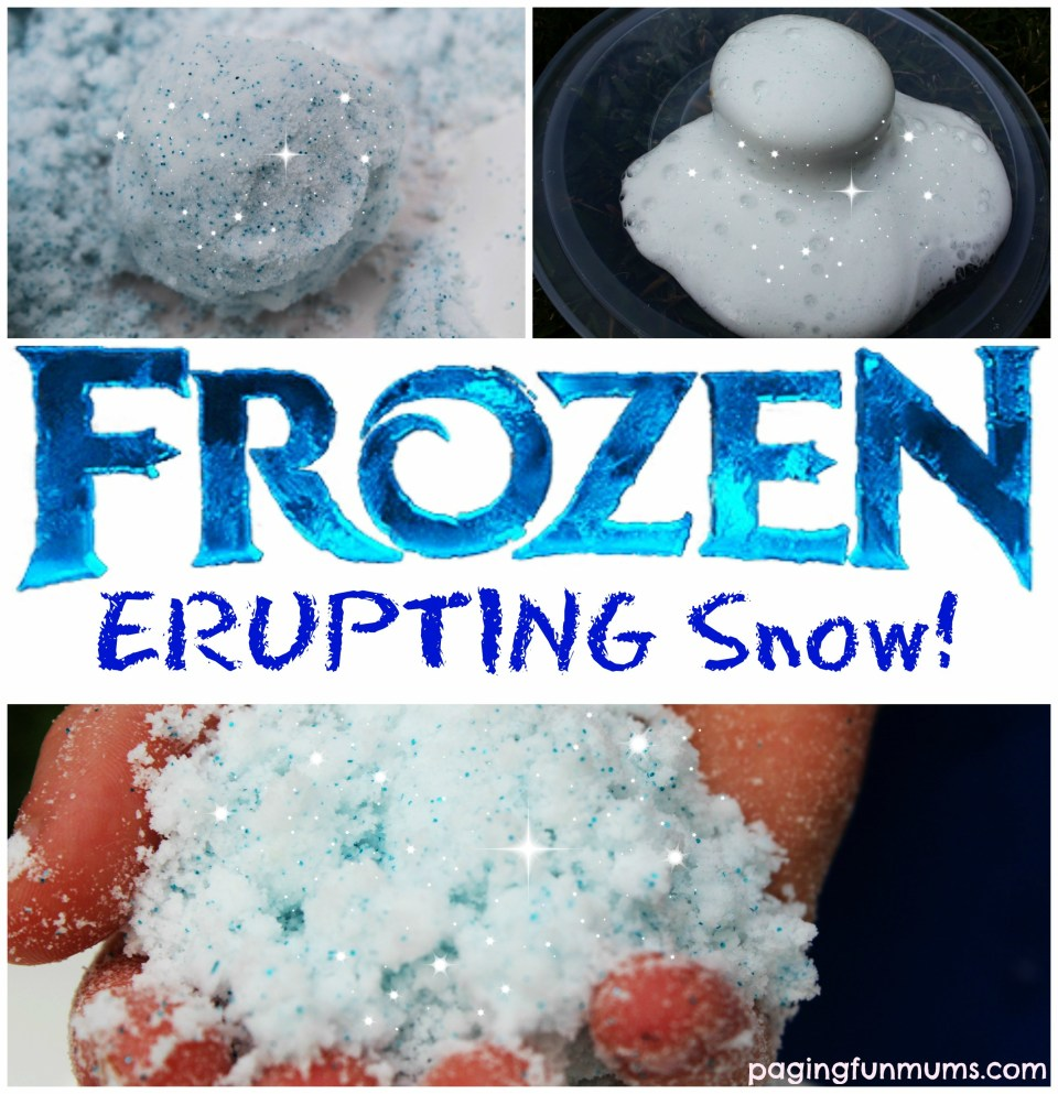 Frozen Erupting Snow from Paging Fun Mums