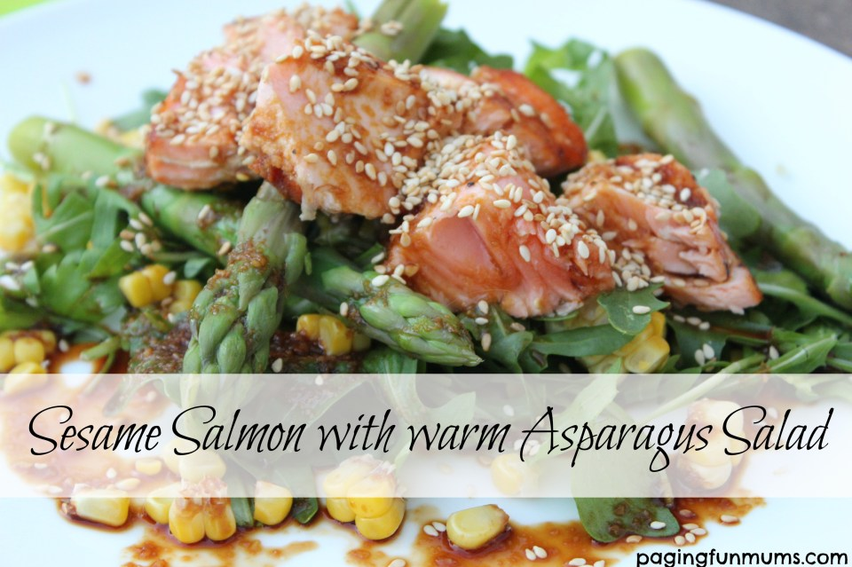 how to cook salmon with sesame seeds