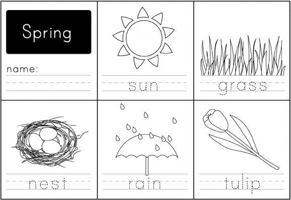 Spring Handwriting Printable - Paging Supermom
