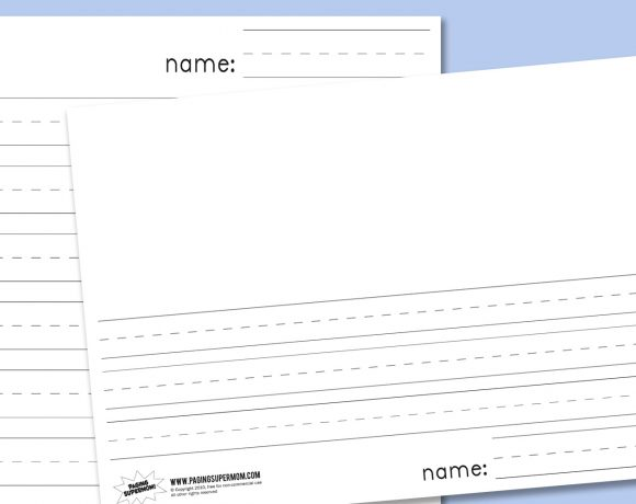 blank paper Archives - Paging Supermom - elementary lined paper template