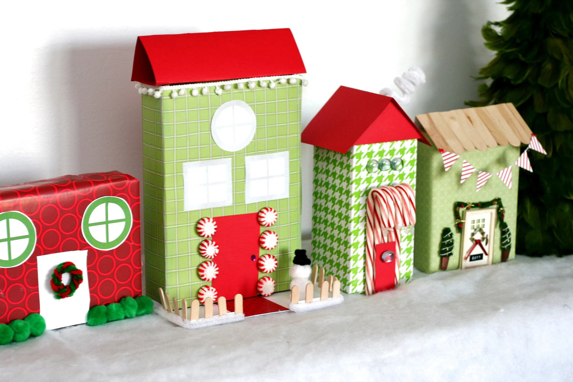 Popular Village Recycled Village Paging Supermom Village Houses Diy Village Houses Police Station curbed Christmas Village Houses