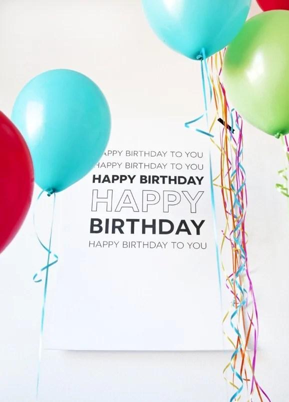 8 Free Birthday Printables - Paging Supermom