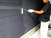 7サイディング壁 下塗り (1層目)