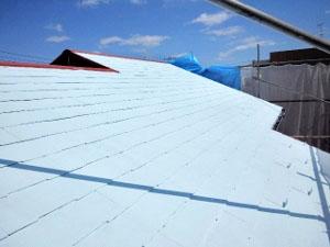 屋根塗装下塗り(遮熱プライマー)3
